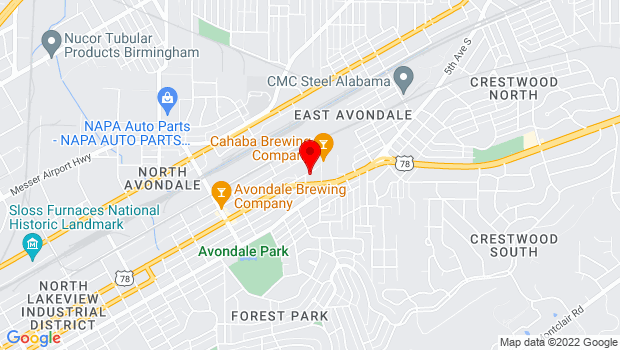 Google Map of 4411 3rd Ave S, Birmingham, AL 35222